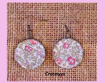 Earrings liberty eloise pink 25 mm
