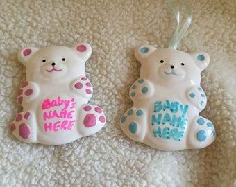 Teddy bear ornament party favors