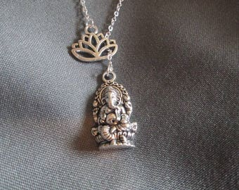 Lotus Ganesh Necklace - Lariat Style