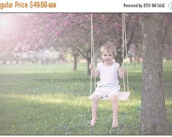 SUMMER SALE Wooden Swing with rope Photography Prop Children