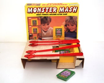 Vintage 80s Monster Mash game 1987 halloween party fun