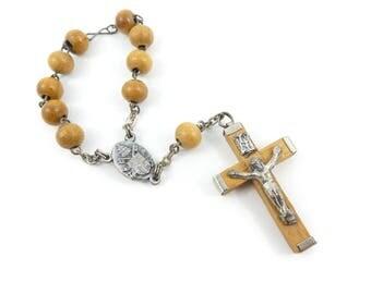 Vintage Wood Chaplet, Rosary, Roma