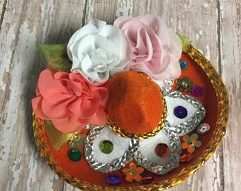 Mexican Hat, Hair Clip, Fiesta Hat, Costume Hat, Mexico Trip, Sombrero, Halloween, Dress Up