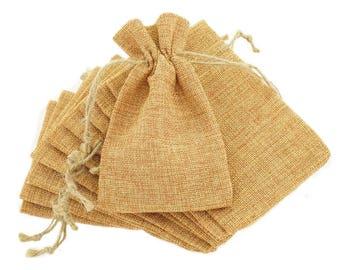 10x Hessian Burlap Favour Bags 10x15cm Wedding Bomboniere Gift Pouch Rustic Supplies