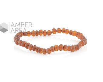Baroque Baltic Amber Bracelet, Raw Beads // 1742