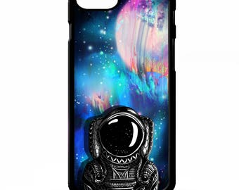 astronaut space man cosmos universe moon stars illustration art cover for iphone 4 4s 5 5s 5c 6 6s 7 plus SE phone case