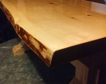 Free shipping on live edge coffee tables.Made from 2 inch  pine slab.