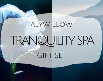 TRANQUILITY SPA Set || moisturizers, soaps, spritzers, and inhalers || made of plants that help restore and relax || cruelty-free & natural
