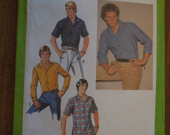 Simplicity 8944, size 44, men's shirt, UNCUT sewing pattern, craft supplies