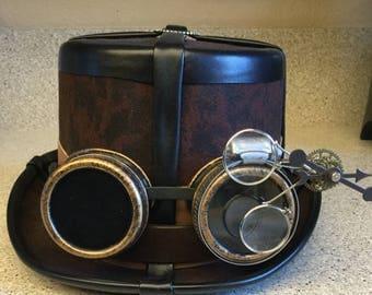 Steampunk Goggles Costume Hat