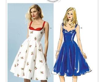5882, Butterick, Retro Party Dress, Vintage Style, 50's Sun Dress, Patterns by Gertie, Rockabilly Dress, Sweetheart neckline, Flared Dress