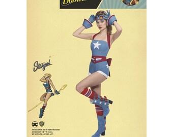 Simplicity 8433, Misses' D.C. Comics Bombshells Stargirl Costume, DC Comics Costume, Halloween Costume, Cosplay, wonder woman