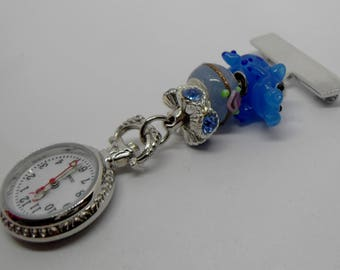 Blue Hippo Fobwatch for Nurses, Carers, Beauticians and Vets