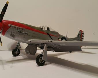 "P-51D Mustang -""Tornado"" 1948 Japan-  1/48 scale- Built Plastic Scale Model"
