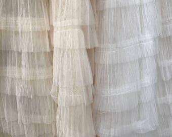 3D Ruffle Fabric, Ivory Pleated Fabric, Wedding Haute Couture Fabric, Off white Photography Prop Backdrop