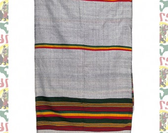 Ethiopian Traditional Woven Cotton Shawl (Scarf-a20)