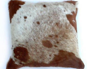 Natural Cowhide Luxurious Hair On Cushion/ Pillow Cover (15''x 15'') A18