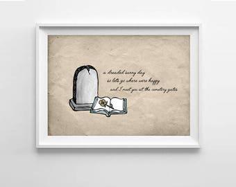 The Smiths Quote Art Print - Cemetery Gates -Morrissey lyric