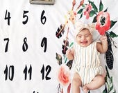 Monthly Mileston Blanket | Monogram Milestone Blanket | Newborn Photo Prop