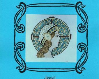 CROSS STITCH PATTERN -  Art Deco Lady Stitch Pattern - Flapper Girl Cross Stitch