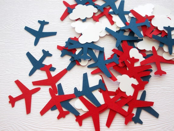 Airplane Confetti Airplane Birthday Airplane Cloud Cutouts