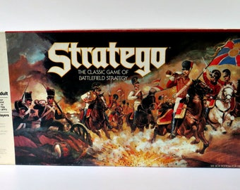 Vintage Board Game - 1986 Stratego Battlefield Strategy Classic Game - Milton Bradley 4916 - Complete Game - Ages 10 to Adult