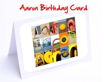 Aaron Personalised Birthday Cards