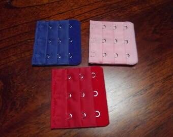set of 3 bra Extenders, 5 x 5, 5 cm, 3 hooks.