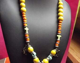 (5) beads necklace for Halloween and Gothic charms