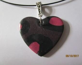 Heart statement necklace