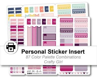 Personal Traveler's Notebook Sticker Kit, Planner Stickers Printable, Sticker Book for Planner, Decorative Planner sticker, Planner Insert