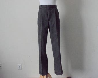 FREE usa SHIPPING Vintage women's pants/ plaid slacks/ plaid pants/ dress pants/ high waisted/ cuff/ trousers/ retro/ 1980s