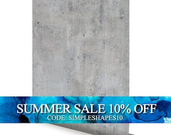 Cement Concrete Peel & Stick Fabric Wallpaper Repositionable