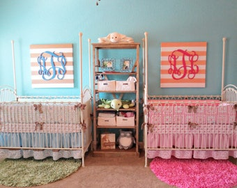 Monogram Sign   Wood Monogram Wall Hanging   Nursery Decor   Teen Room    College Dorm Part 64