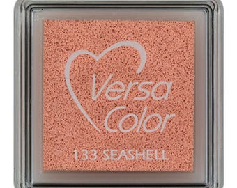 Small ink pad pink, Versacolor inkpad, Versacolor Seashell small, pink inkpad, salmon pink, craft supplies, rubber stamps, ink pad for paper