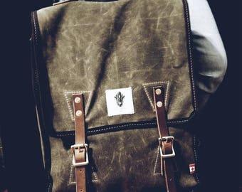 Waxed Canvas Backpack, Mountain Jumper, Waxed Canvas Bag, Rucksack, Luggage