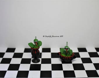 Dollhouse Miniature Witchy Spooky Gothic Creepy Plants in 1:12 scale