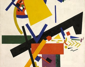 KAZIMIR MALEVICH - 'Suprematism' - original archival quality print - very large (Curwen Press, London. Abstract art)