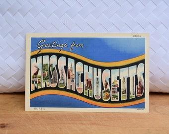 Vintage Massachusetts Linen Postcard