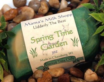 Spring Time Garden - Limited Time Only - Spring Time Collection - Handmade - Farm Fresh - Goat Milk Soap - Wisconsin