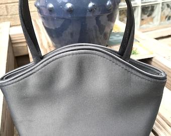 Vintage Vanessa Small Gray Satin Evening Bag