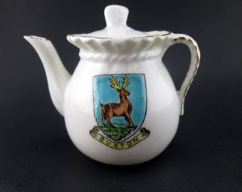 Vintage Crested Ware Buxton Teapot