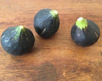 Three Italian Alabaster Marble Stone Figs