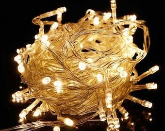 Christmas Lights Wedding Centerpiece