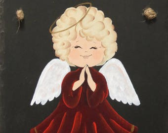 Our Hand Painted JOY & PEACE ANGEL Slate