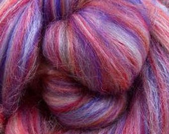 World of Wools Merino-Silk Wool Roving / Combed Top / Wool in Hydra - 4 ounces
