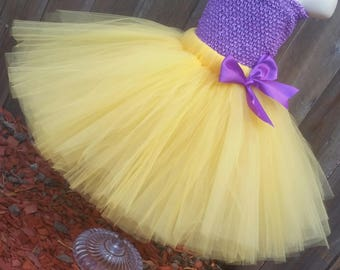 Customizable Yellow Tutu Skirt, Lakers Tutu, Vikings Tutu, Purple And Yellow Tutu, Harper Tutu, Harper Troll Costume, Harper Costume