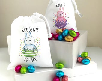 Kids Treat Bags Personalised With Any Name including Chocolate eggs Gift Bags Personalised Party Bags for Boys and Girls ColourfulP