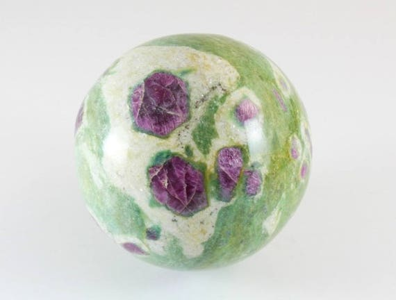 Ruby and Fuchsite Sphere, M-1191