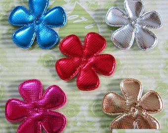 LOT 6 flowers 50mm Christmas embellishment